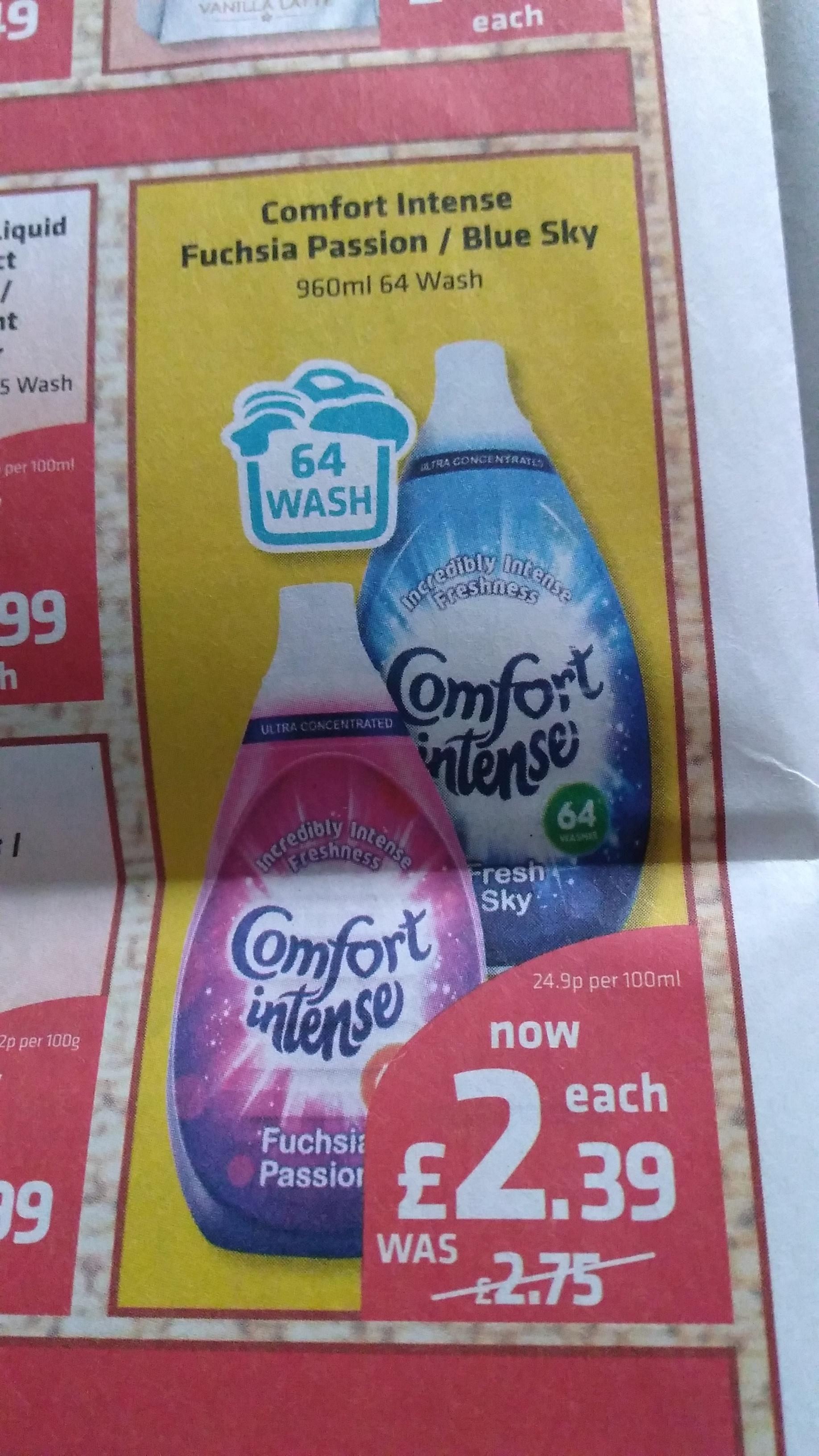 Comfort Intense Fushsia Passion/Blue Sky  64 Wash £2.39 at Savers