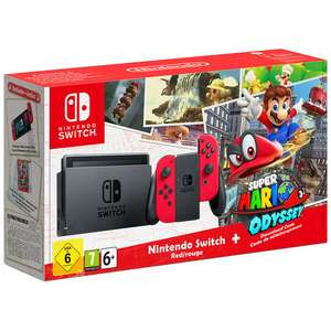 Nintendo Switch Red edition  & Mario Odyssey £314.99 (potentially up to an extra 8% off read in post) @ Toys R Us using code