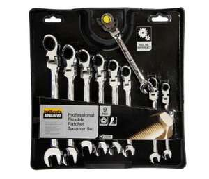 Halfords Advanced 9 Piece Flexible Ratchet Spanner Set £34 @ Halfords (Discount applies at checkout)