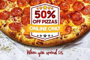 50% off Pizza Hut when you spend £15 or more!
