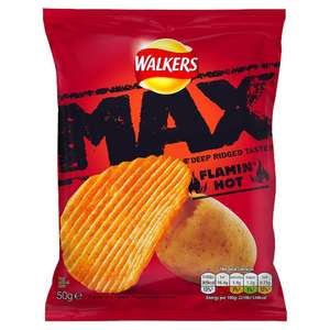 Walkers Max Flamin Hot crisps (24 Pack) - £5.84 (Prime / £10.59 non Prime) @ Amazon
