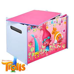 Trolls wood Toy Box free click and collect from homebargains stores £19.99