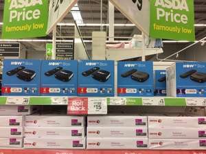 Now TV Box with either a 4 months kids pass or 1 month sky cinema pass - £15 instore @ Asda