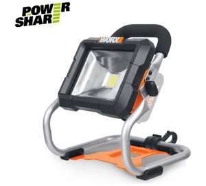 Worksite light - WORX 20V Li-Ion MAX Cordless Bare Site Light - No Battery for £12.99 @ ARGOS