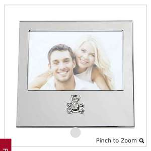Wilko Silver Effect Baby Photo Frame 6 x 4in reduced from £6 to £1.50
