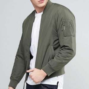 Hollister Lightweight Bomber Jacket In Khaki Olive £23.50 delivered at asos (£59.99 rrp) men's
