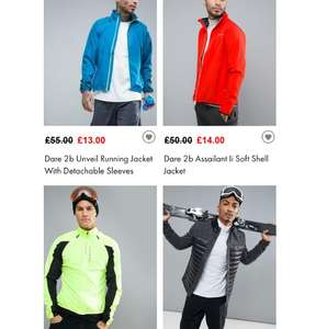 Dare 2b Unveil Running Jacket With Detachable Sleeves (gilet) £13 at asos (+ postage or free delivery / returns over £20)