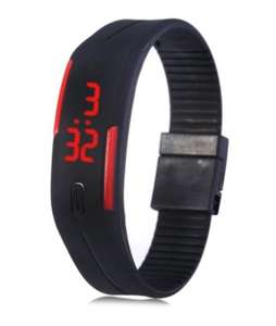 Red Digital LED Watch with Date from Gearbest only 74 pence when buying through their App