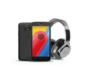 Tesco Mobile Moto C Black with Headsets for £75