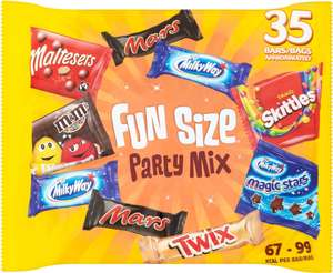 Fun Size Party Mix (35 per pack - 600g) ONLY £3.00 @ Morrisons
