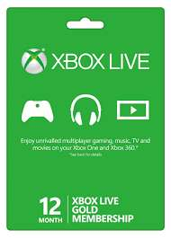 12 Month Xbox Live Gold Membership (Xbox One/360) £39.99 (£31.99 Quidco + Microsoft Store)