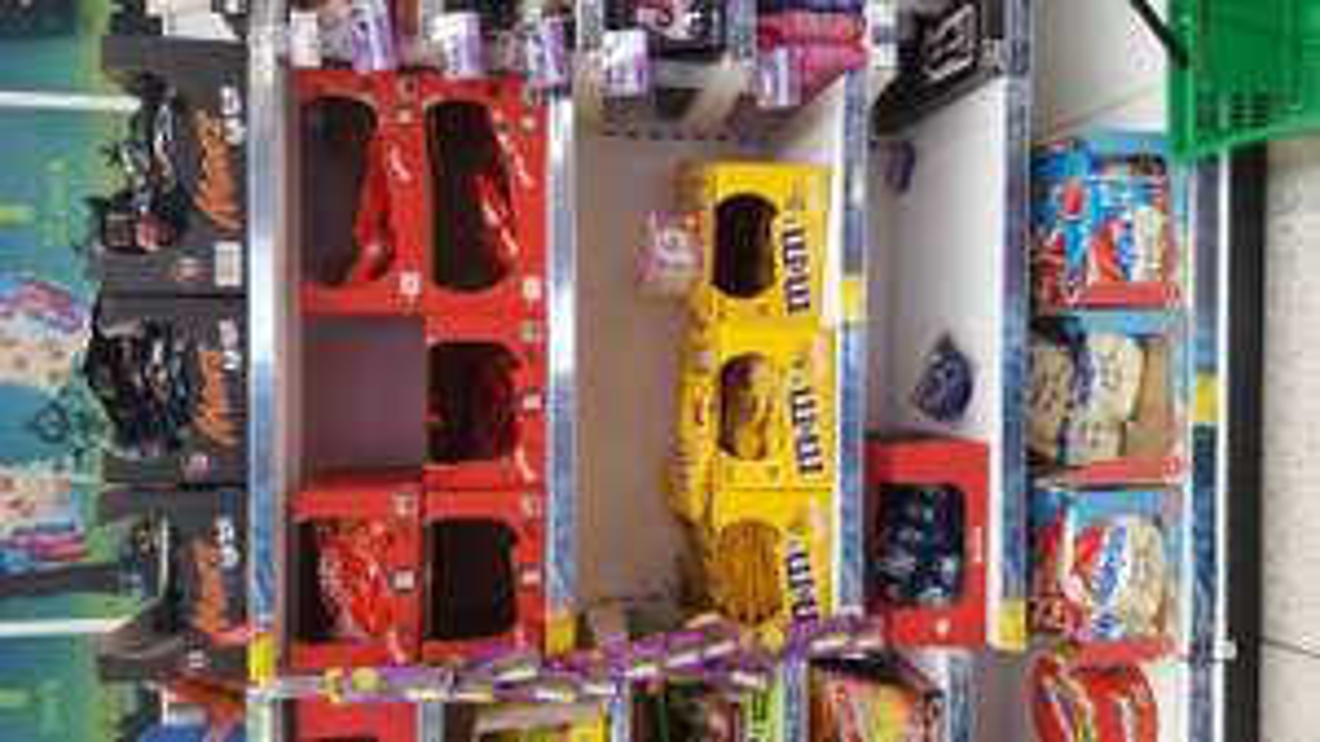M&Ms, Mars, Milkybar, Maltesers funsize 11 bags £1.40 in asda