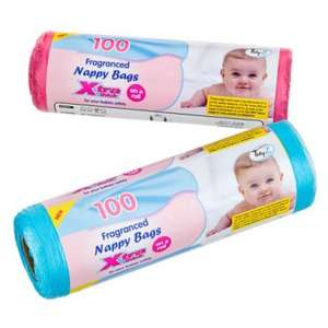 Fragranced Nappy Bags (100) was £1.00 now 2 for £1.00 @ Poundland