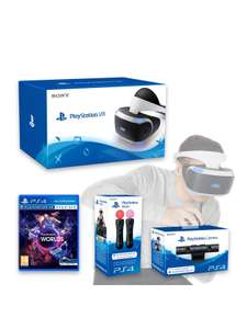 Playstation PlayStation VR Headset with PlayStation Camera, VR Worlds and Move Controller Twin Pack £399.99 @ Very (new members with code)
