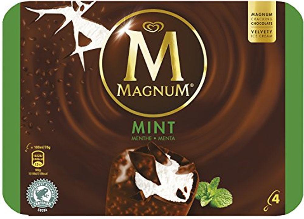 Magnum Classic / White / Mint / Ice Cream (4 x110ml) Half Price was £3.20 now £1.60 @ Tesco