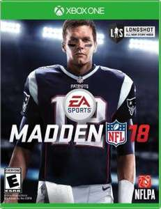 Madden 18 digital download Xbox one CD keys £32.99 (£31.35 with 5%facebook code)
