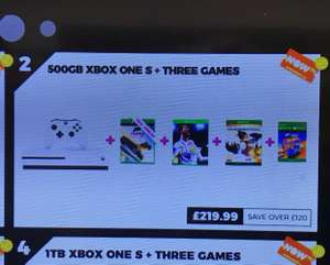 Xbox one s (forza) + fifa 18 Ronaldo Edition and overwatch - £219 instore @ GAME - Meadowhall