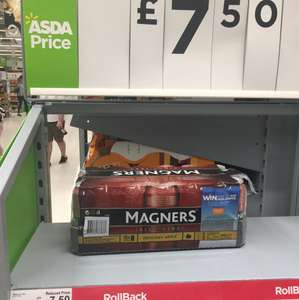 Magners 18 x 440mm for £7.50 @ Asda in store (sheffield mosborough)