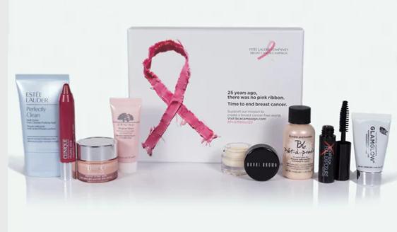 The Estée Lauder companies uk & ireland breast cancer campaign beauty box £25