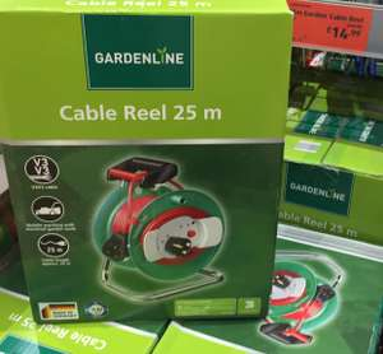 Aldi 25 metre garden cable reel £9.99