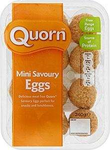 Quorn Meat Free Mini Savoury Eggs 2 x 12 packs £1 at Heron