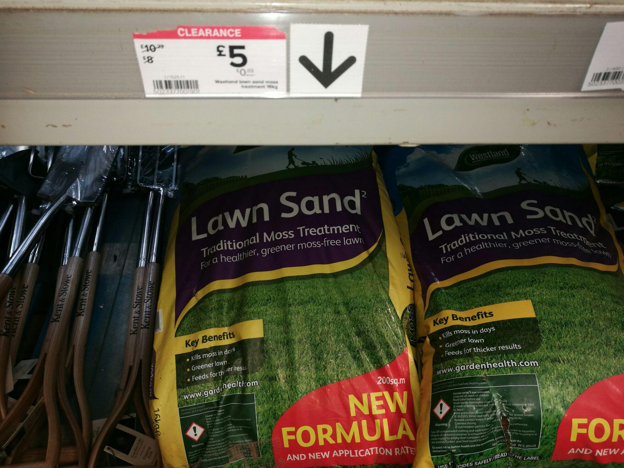 Westland lawn sand less than half price at GBP 5 @ B&Q