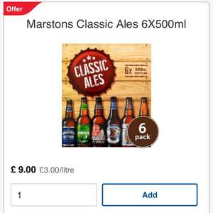 Tesco in store and online 3 for £21 ales beers and ciders multi packs