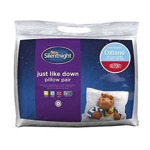Silentnight Just Like Down Pillow Plus - White, (Pack of 2) £11.99 @ Amazon