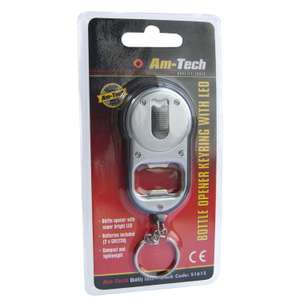 Am-Tech 2 In 1 Bottle Opener Key Ring With Super Bright LED 99p with free P & P ebony_and_ivory_ltd @ ebay