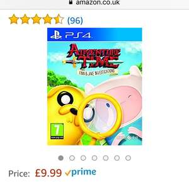 PS4 Adventure time Amazon £9.99 (Prime) £11.98 (Non Prime) @ Amazon