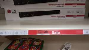 LG LAS260B soundbar reduced to £50 from £65 at Sainsbury's (Morley)