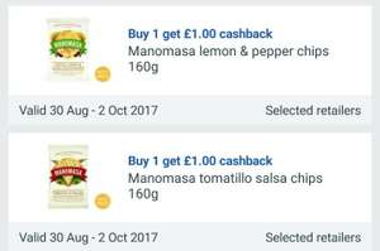 20 FREE bags of Manomasa tortillas w/ Clicksnap & Checkoutsmart app and using Tesco Brand match @  TESCO ,  Tesco. com