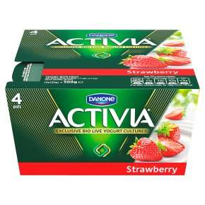 Activia Yogurts, 4 x 125g £1 (80p for peach or strawberry when using Pick Your Own Offers) @ Waitrose