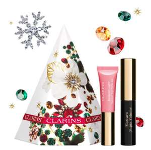 Clarins festive eyes & lips set plus two minis sample and 6 free sample Total £13.95