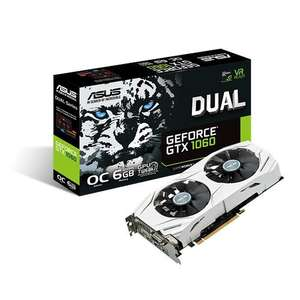 ASUS GeForce GTX 1060 6GB Dual OC Graphics Card @ Amazon - £239.99
