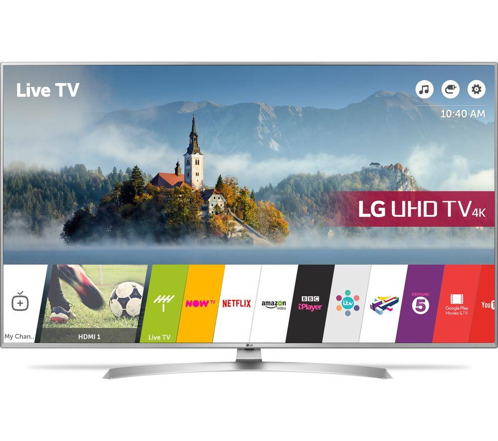 "LG 55UJ701V 55"" Smart 4K Ultra HD HDR LED TV for £699 at Curry's"