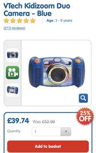 VTech Kidizoom Duo Camera - Blue £39.74 at Thetoyshop.com