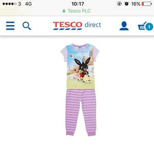 CBeebies Bing Bunny Pyjamas £4 was £8 tesco direct