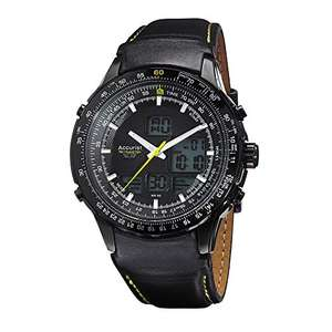 Accurist Skymaster Mens Analogue/Digital Watch With Black Leather Strap £64 Dispatched from and sold by The Watch King - Amazon