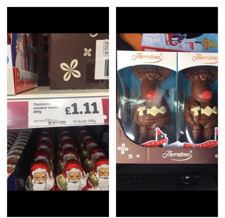 Thornton's Reindeer @ Sainsbury's instore - Rhyl  for £1.11