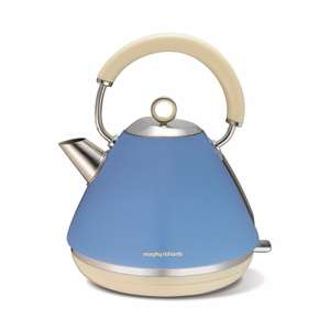 Morphy Richards - Blue 'Accents' retro traditional kettle 102010 £18 delivered + 2 Year Guarantee @ Debenhams