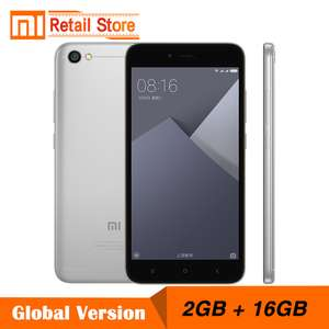 Global Version Xiaomi Redmi Note 5A 2GB RAM 16GB ROM Cellphone Note 5 A Snapdragon 425 Quad Core CPU Smartphone 5.5 Inch 13.0MP £82 @ Aliexpress