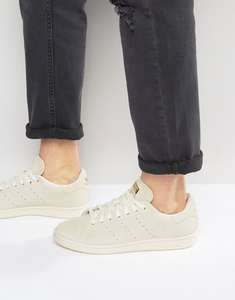 Adidas Originals Stan Smith Trainers in White Suede - £37.05 @ ASOS US
