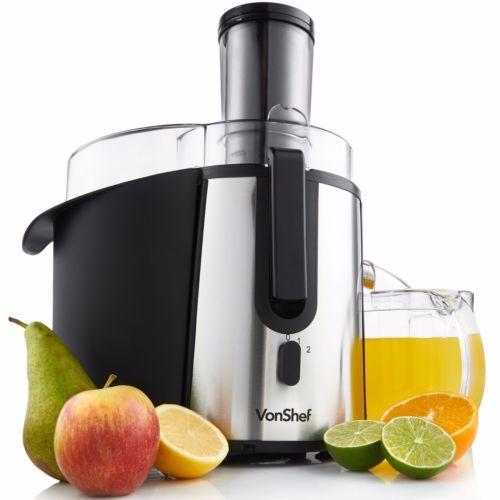 VonShef Juicer Centrifugal Whole Fruit Juice Extractor 990W Citrus Vegetable £32.99 Delivered @ eBay / domu-uk