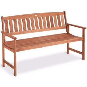 VonHaus 3 Seater Hardwood Garden Bench Outdoor Patio Furniture Wooden Seat £54.99 Delivered @ eBay / domu-uk