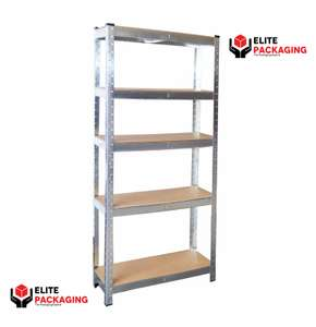 5 Tier Heavy Duty Boltless Metal Grey Shelving Storage Unit £17.99 delivered @ eBay /  elite-packaging