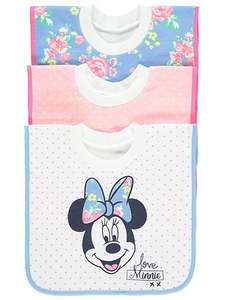 3 Pack Disney Minnie Mouse Bibs - £3 @ Asda