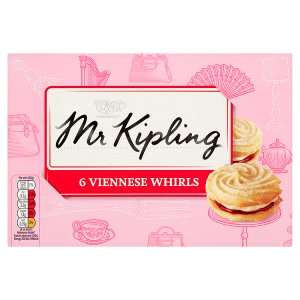 Mr Kipling 6 Viennese Whirls 75p at Iceland