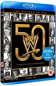 WWE: The History of WWE: 50 Years of Sports Entertainment [Blu-ray] £10.99 prime / £12.98 non prime at Amazon