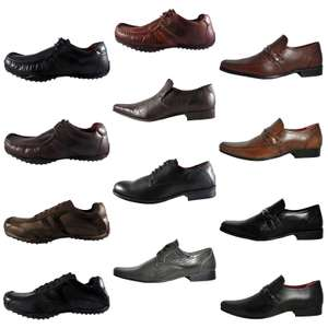 REAL LEATHER Formal Casual Lace Slip on Shoes - From £ 9.99 Free P&P @ eBay (seller Expresstrainers)